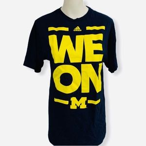 💙ADIDAS💙MICHIGAN💙UNIVERSITY 💙WE💙ON💙TEE